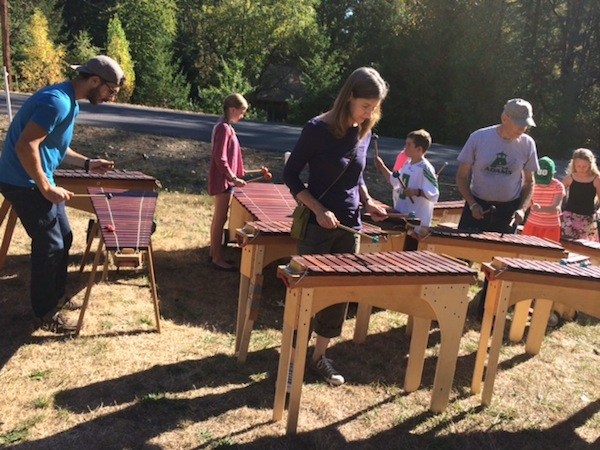 Children's Marimba Band performing on August 11th 2015