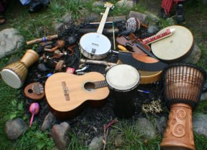 Acoustic Jam Circle at the Spencer Creek Market on June 25th