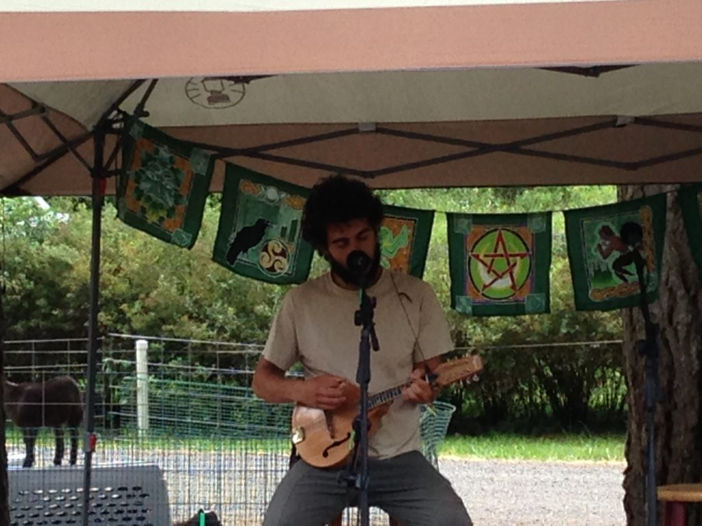 Nick Maiolo performs at the Spencer Creek Growers Market on June 11th