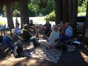 Acoustic Jam Circle at the Spencer Creek Market on June 23rd