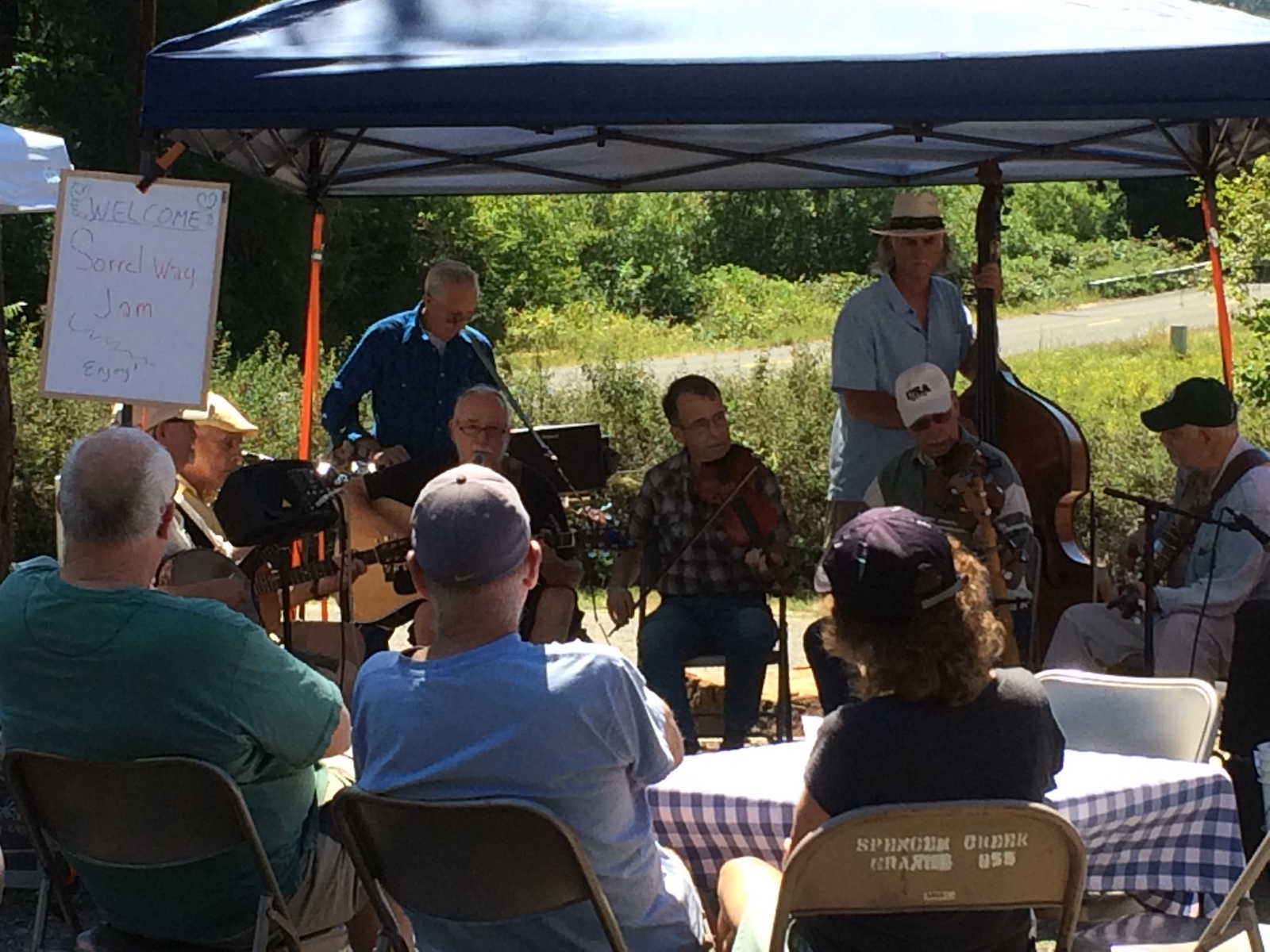 Sorrel Way Jam performs at the Spencer Creek Growers Market in July 2018